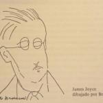 James Joyce dibujado por Brancusi