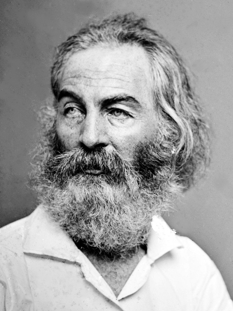 "Description Walt Whitman - Brady-Handy.jpg Walt Whitman. Library of Congress description: ""Walt Whitman"". Source Library of Congress Prints and Photographs Division. Brady-Handy Photograph Collection. http://hdl.loc.gov/loc.pnp/cwpbh.00752. CALL NUMBER: LC-BH82- 137 [P&P] Date between 1855 and 1865 Author [?] Brady, Mathew Date of birth/death ca. 1823 15 January or 16 January 1896 Location of birth/death Warren County, New York New York City Work period 1844 - ca. 1887 Work location New York City and Washington, D.C. Permission (Reusing this image) PD"