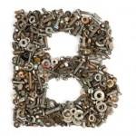 B 7090274-alfabeto-de-pernos--la-letra-b